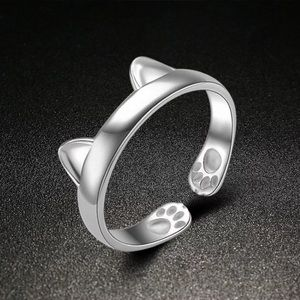 Jewelry - Silver Adjustable Cat/Kitten Ring